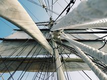 White Sail Under Sky Stock Image