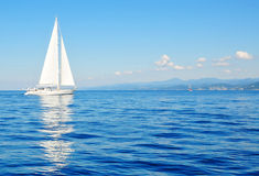 White sailboat Royalty Free Stock Photo
