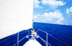 White sailboat Stock Images