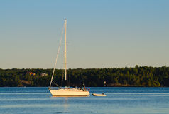 White sailboat Royalty Free Stock Images