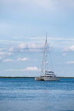 White Sailboat on Blue Water Under Nice Sky Stock Photos