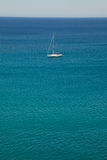 White sailing ship yacht in Mediterranean Sea Royalty Free Stock Images