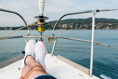 White sailing shoes Stock Photography