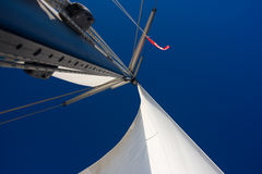 White sails against blue sky Royalty Free Stock Images