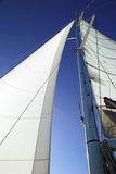 White sails, blue sky Royalty Free Stock Photos