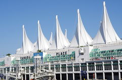 White sails of Canada Place Stock Photography