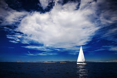 The white sails of yachts Royalty Free Stock Images