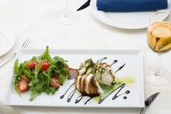 White salad diagonal served Stock Image