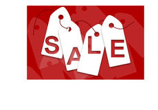 White sale cards Stock Image