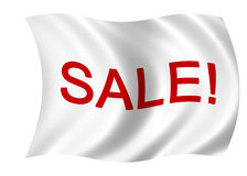 White Sale flag Royalty Free Stock Photography