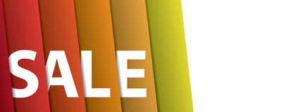 White sale hanging design on gradient shade curtain backdround f Royalty Free Stock Photo