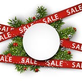 White sale paper gift card. Stock Image