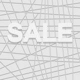 White sale sign over 3D  background Stock Photography