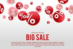 White sale sign over red background. EPS 10 and JPEG files Stock Images
