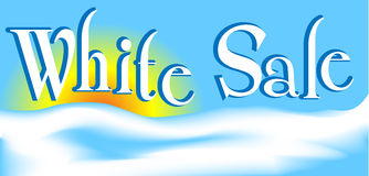 White Sale Royalty Free Stock Image