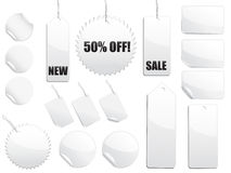 White Sale Tags Stock Photos