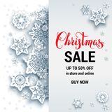 White Sale winter card Royalty Free Stock Photos