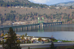 White Salmon Interstate bridge, Hood River Oregon. Royalty Free Stock Photography