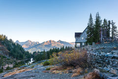 White salmon lodge,scenic view in Mt. Baker Snoqualmie National Stock Photo