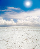 White salt desert Stock Photos