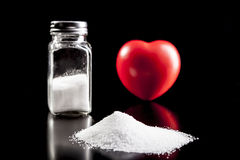 White Salt and Heart Royalty Free Stock Photo