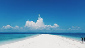 White Sand Bar. Surreal view of the white sand beach in Kalanggaman Leyte Philippines Stock Photography