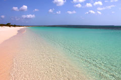 White sand beach. Great white sand and wanderfull sea Stock Image