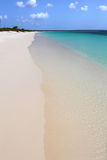 White sand beach. Great white sand and wanderfull sea Stock Photos
