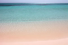 White sand beach. Great white sand and wanderfull sea Royalty Free Stock Image