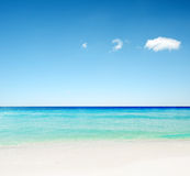 White sand beach Stock Photography