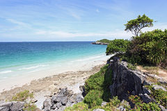 White sand beach Royalty Free Stock Images