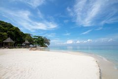 White sand beach Stock Image