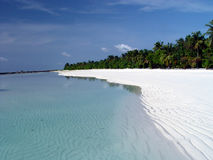White sand beach Royalty Free Stock Image