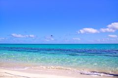 White sand beach with amazingly clear water, Heron Island Australia Royalty Free Stock Images
