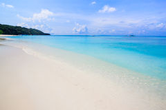 White sand beach  of Andaman Sea in Tachai island Stock Photos