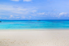 White sand beach  of Andaman Sea in Tachai island Stock Photo