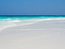 White Sand Beach Background Royalty Free Stock Photography