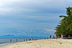 White Sand Beach in Badian Royalty Free Stock Image
