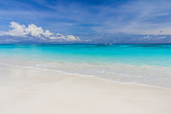 White sand beach with beautiful sky Stock Photo