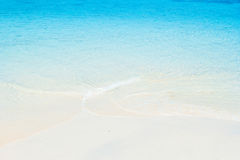 White sand beach and blue sea Royalty Free Stock Images