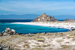 White Sand Beach and Blue Water Royalty Free Stock Photography