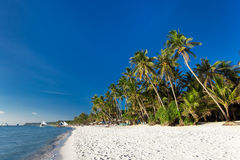 White sand beach on Boracay island Royalty Free Stock Image