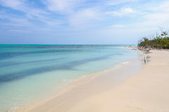 White sand beach on Cayo Levisa Island in Cuba Stock Images