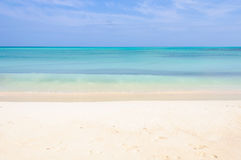 White sand beach on Cayo Levisa Island in Cuba Royalty Free Stock Photo