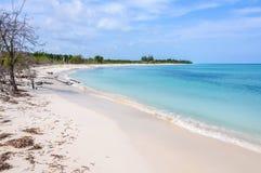 White sand beach on Cayo Levisa Island in Cuba Royalty Free Stock Image