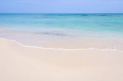 White sand beach on Cayo Levisa Island in Cuba Royalty Free Stock Images
