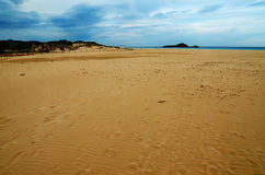White sand beach of Chia, Sardinia Stock Photography