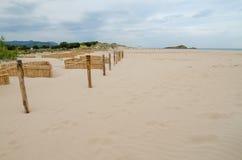 White sand beach of Chia, Sardinia Royalty Free Stock Images