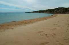 White sand beach of Chia, Sardinia Stock Photo