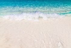 White sand beach with crystal clear water Royalty Free Stock Image